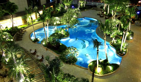 Hotel outdoor pool  Outdoor Swimming Pool _Recreation_Kande International Hotel Huizhou